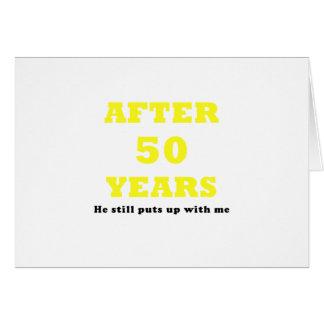 Après 50 ans il m'acceptait toujours carte de vœux