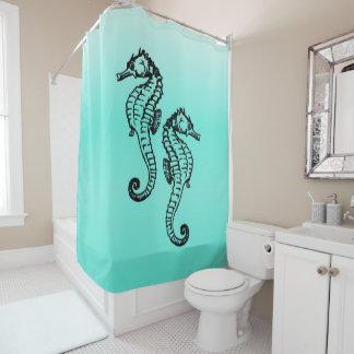 Aqua d'hippocampes rideaux de douche