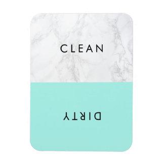 Aqua et lave-vaisselle moderne de marbre blanc de magnet flexible