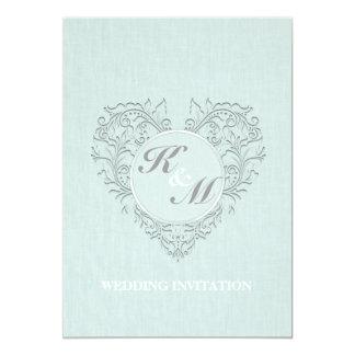 Aqua HeartyChic Carton D'invitation 12,7 Cm X 17,78 Cm