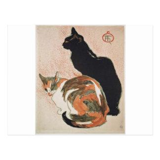 Aquarelle - 2 chats - Théophile Alexandre Steinlen Carte Postale
