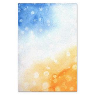 Aquarelle bleue et jaune papier mousseline
