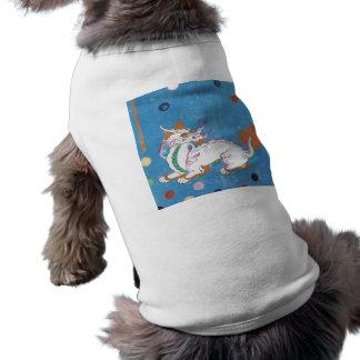Aquarelle colorée de cru de points de dragon vêtements pour animaux domestiques