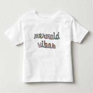 Aquarelle colorée de vibraphone de sirène t-shirt pour les tous petits