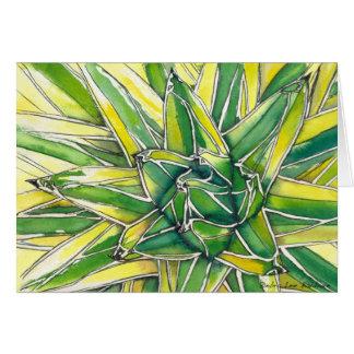Aquarelle d'agave de la Reine Victoria par DLB Carte