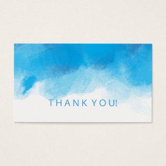 Aquarelle de bleu d'été d'insertion de Merci Cartes De Visite
