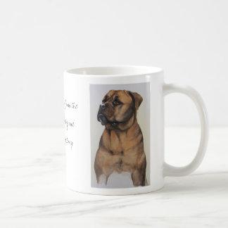 Aquarelle de Bullmastiff avec le texte Mug