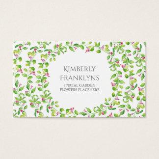 Aquarelle de fleurs de vigne de jardin cartes de visite