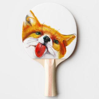 Aquarelle de Fox Raquette De Ping Pong