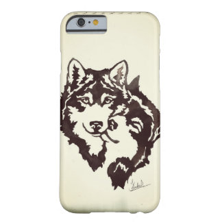 aquarelle de loup coque iPhone 6 barely there