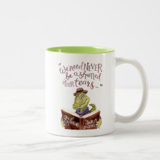 Aquarelle de motivation Croc de citation de Mug Bicolore