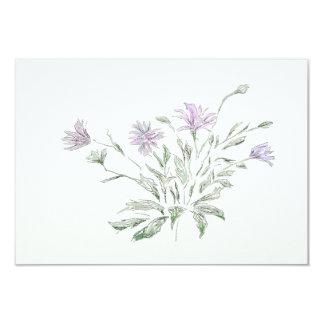 Aquarelle, fleurs, carte