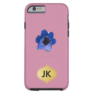 Aquarelle florale bleue par espièglerie belle coque iPhone 6 tough