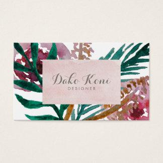 Aquarelle florale cartes de visite
