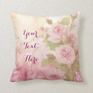 Aquarelle florale de beaux roses roses mous oreiller