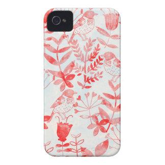 aquarelle florale et oiseaux coque iPhone 4