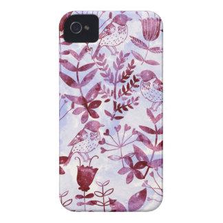 aquarelle florale et oiseaux II Coques iPhone 4 Case-Mate
