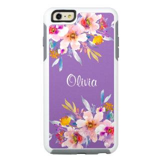 Aquarelle florale moderne coque OtterBox iPhone 6 et 6s plus