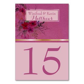 Aquarelle florale rose chic du numéro | de Tableau