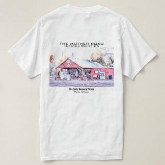 Aquarelle historique d'épicerie générale de t-shirt