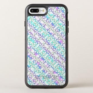 Aquarelle molle de pourpre de turquoise de rose de coque otterbox symmetry pour iPhone 7 plus