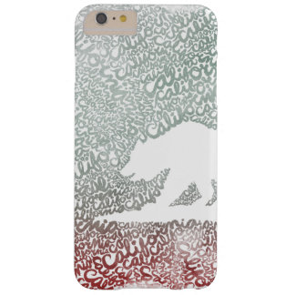 Aquarelle Typograph de la Californie Coque Barely There iPhone 6 Plus