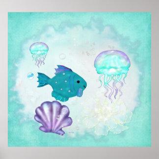 Aquarium 2 van Whimsey de VolksPEDIATER van het Poster