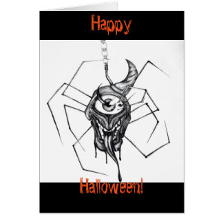 Araignée dessinant la carte de Halloween