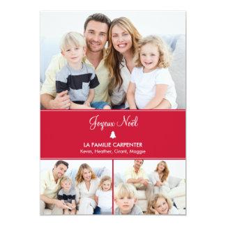Arbre cartes de photo de vacances modernes 12,7x17,8 uitnodiging kaart