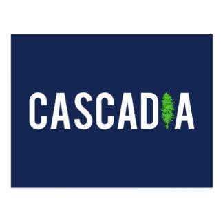 Arbre de Cascadia Carte Postale
