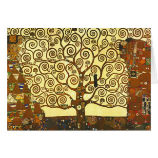 Arbre de Gustav Klimt de carte de voeux de la vie