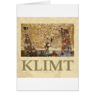 Arbre de Gustav Klimt de la vie Carte