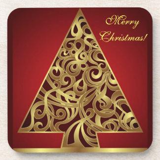 Arbre de Joyeux Noël de dessous de verre de liège Sous-bock