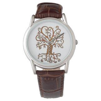 Arbre de montre classique de cuir de Brown de la