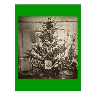 Arbre de Noël ancien de Stereoview Cartes Postales