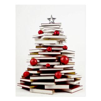 Arbre de Noël de livre Carte Postale