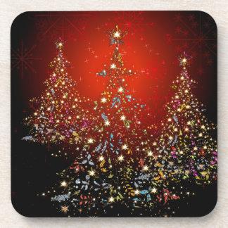 Arbre de Noël de PixDezines Whimpsy+flocons de Dessous-de-verre