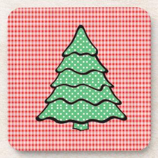 Arbre de Noël de point de polka V4 Sous-bock