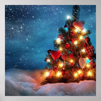 Arbre de Noël - décorations de Noël - flocons de