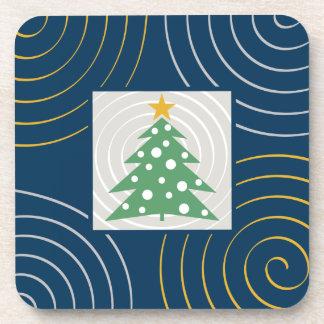 Arbre de Noël mignon avec des spirales Dessous-de-verre