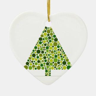 Arbre de Noël Ornement Cœur En Céramique