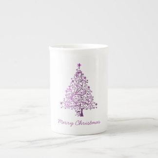 Arbre de Noël rose décoratif étoilé élégant Mug