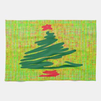 Arbre de Noël Serviettes Éponge