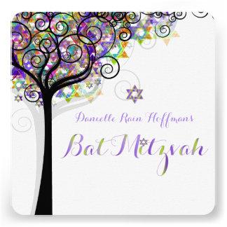 Arbre de PixDezines de bat mitzvah de la vie Cartons D'invitation