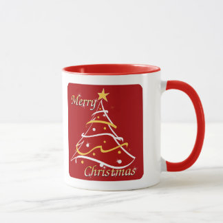 Arbre de rouge de Joyeux Noël Mug