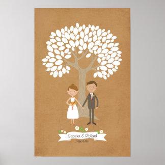Arbre de signature avec le portrait de couples de