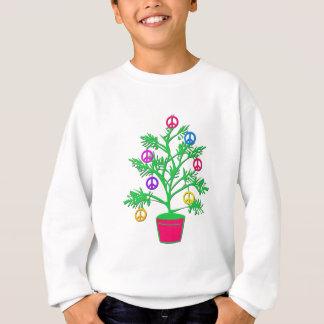 Arbre de vacances d'arbre de paix avec des sweatshirt