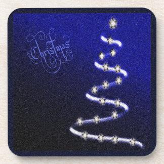 Arbre et étoiles de Noël - Dessous-de-verre