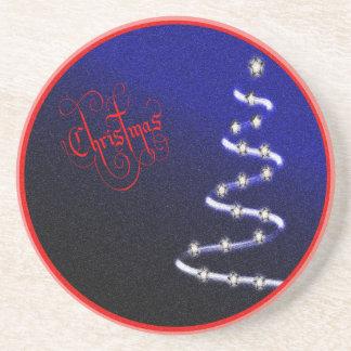 Arbre et étoiles de Noël - Dessous De Verre En Grès