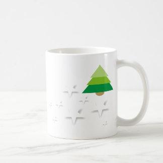 Arbre Noël d'étoiles, enchanteur Winte Mug Blanc